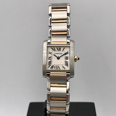 Tank Française Ladies Quartz 18ct Gold and Stainless steel watch
