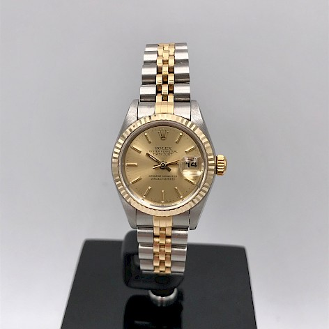 STAINLESS STEEL & 18CT yellow GOLD DATEJUST LADIES