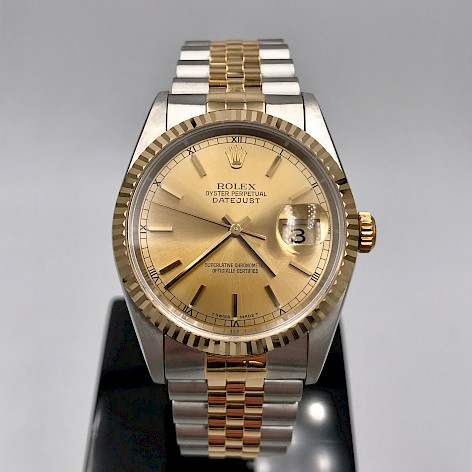 STAINLESS STEEL & 18CT Yellow GOLD DATEJUST Gents