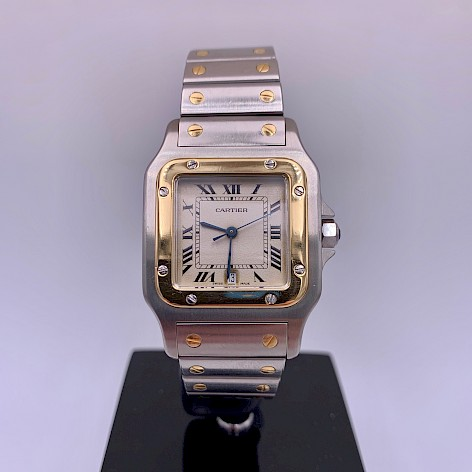Santos 18ct Yellow Gold and Stainless Steel watch