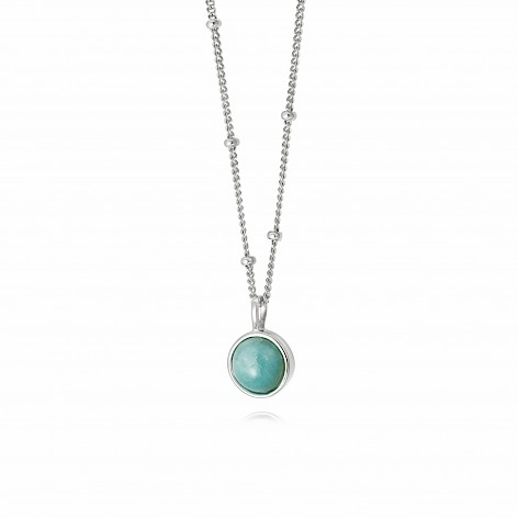 Amazonite Healing Stone Necklace Silver