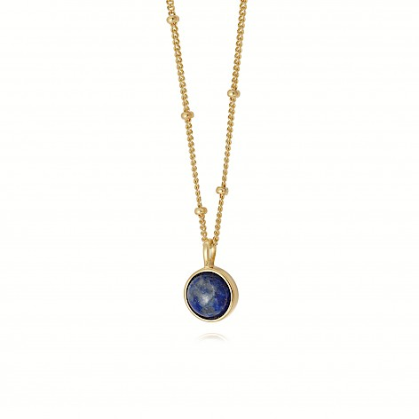 Lapis Healing Stone Necklace 18Ct Gold Plate